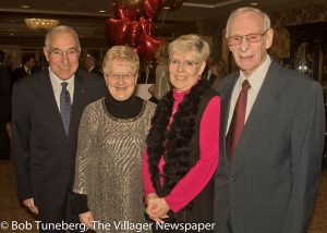 Harry A. Zilli, Jr., Community West Foundation, Life Trustee and his wife, Sharon with Susan and Donald Salisbury.The night also celebrated twins Sharon & Susan's birthday.