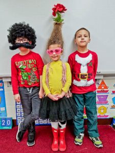 Avon East first-graders Sullivan Carr, Sophia DiJohn and Dean Dieterich.