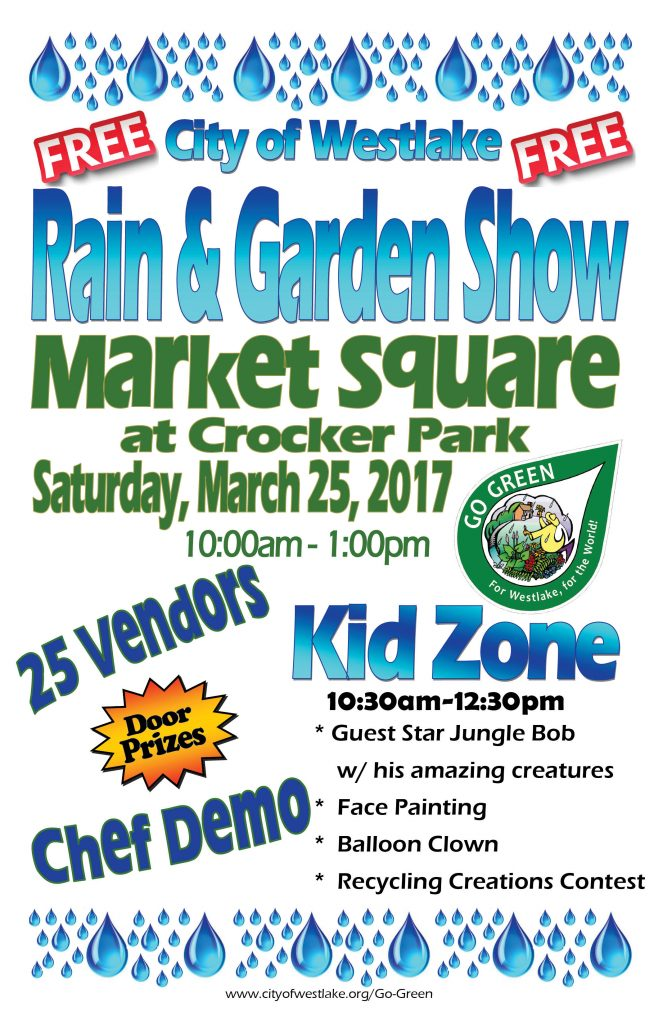 2017 City of Westlake Rain and Garden Show Flyer