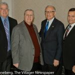 Sheffield Lake Mayor Dennis Bring, Sheffield Mayor John Hunter, Avon Lake Mayor Greg Zil-ka and Avon Mayor Bryan Jensen.