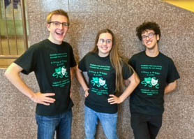 Jeremy Schowchow, Emily Schordock and Jeremy McCabe invite everyone to attend the Green & White Revue.