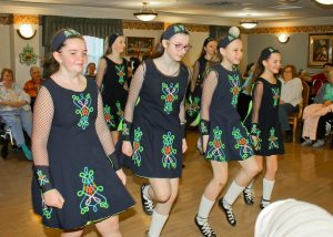 Lively dancing was provided by Cannon Irish Dance of Olmsted Falls,