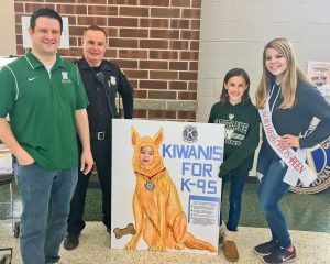 Westlake High School Asst. Principal Ned Lauver, Office Rick Grane, Grace Baker, Alyssa Gruttadauria, and little friend