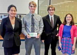 WHS sophomores Esther Park, Thomas Hanson, Jonah Petty and Katie Cirincione