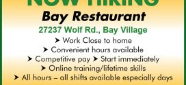 NOW HIRING – Bay Restaurant