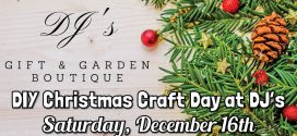 DIY Christmas Craft Day at DJ's Gift & Garden Boutique