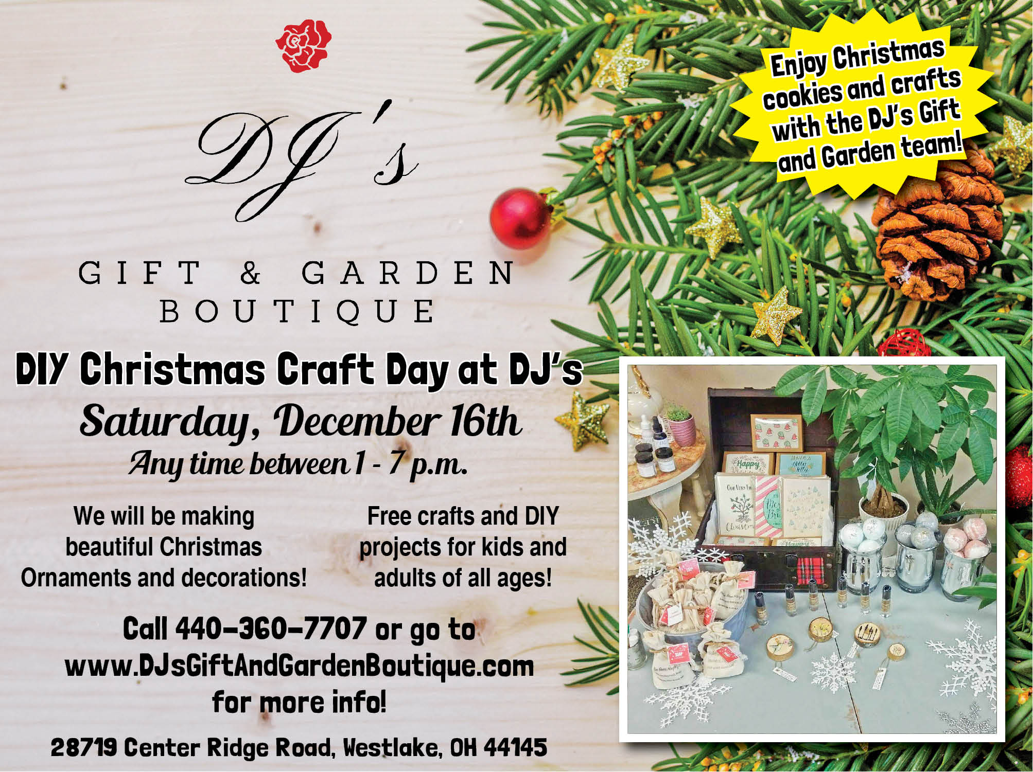 DIY Christmas Craft Day at DJ\'s Gift & Garden Boutique - The ...