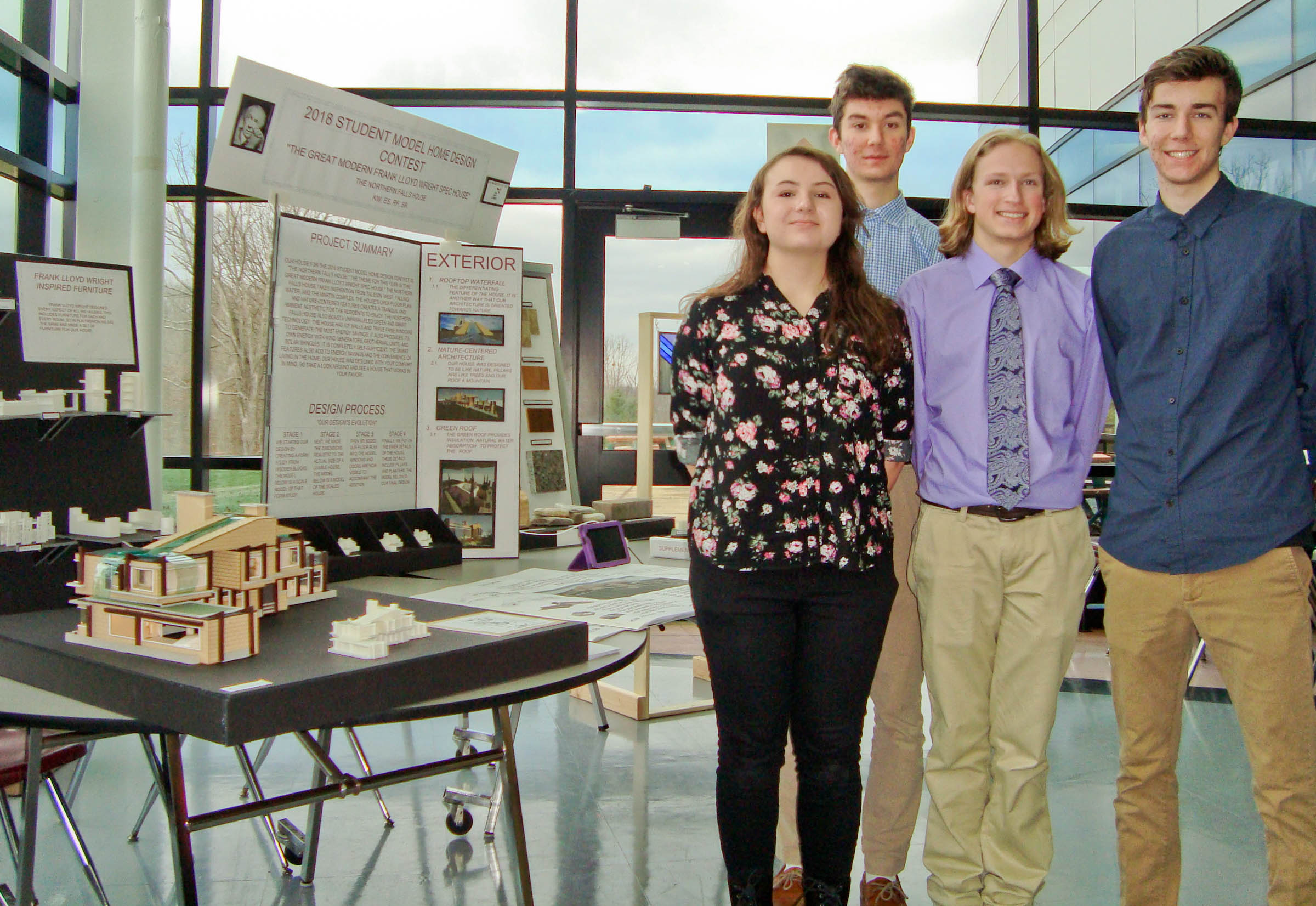 Attractive WHS Students Take Home Top 3 Prizes In Annual Student Model Home Design  Contest