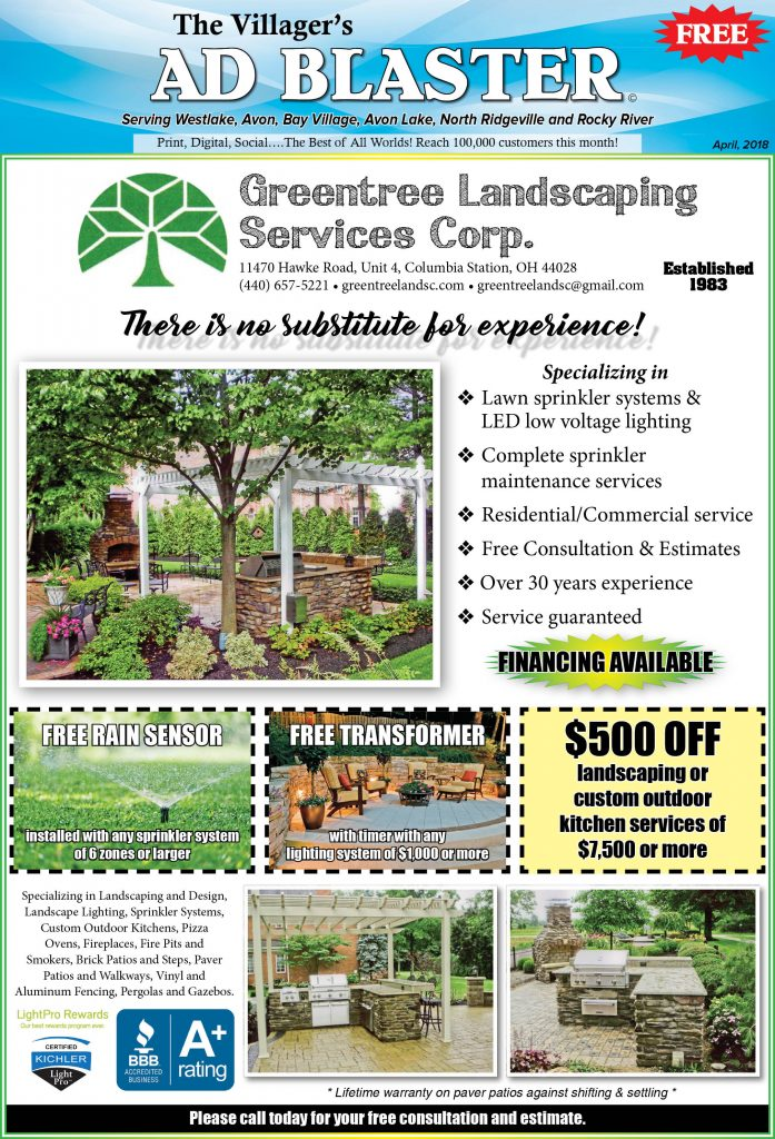 Please call today for your free consultation and estimate. - Greentree Landscaping Services Corp. - The Villager Newspaper Online