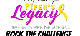 Calling All Kid Ninjas! Save the Date for Piper's Legacy Rock the Challenge