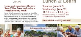 Rose Villas – Avon Invites You to their Lunch & Learn