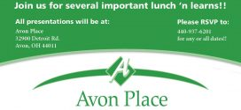 Save the Date! Avon Place Lunch 'N Learns