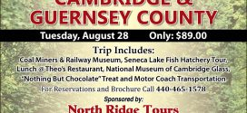 Visit Cambridge and Guernsey County with North Ridge Tours