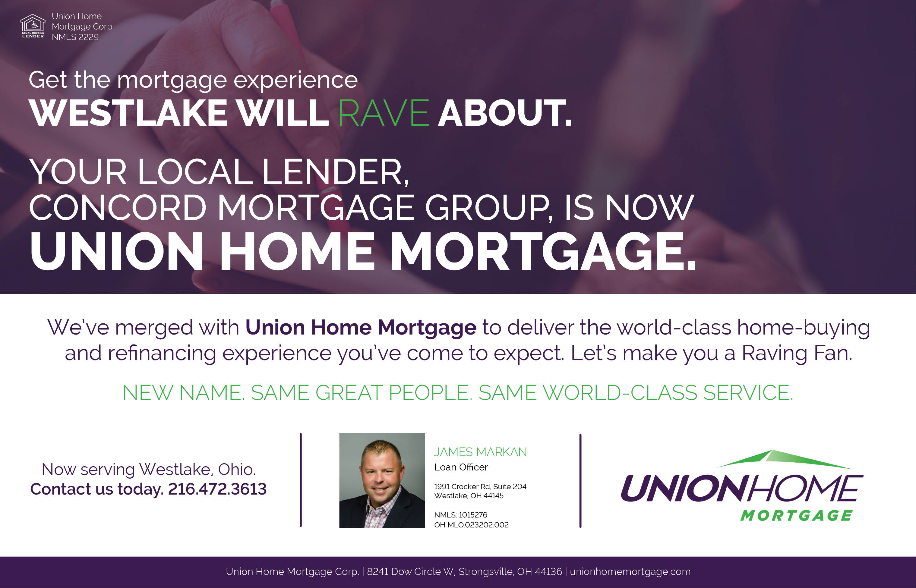 NOIC And Concord Merge With Union Home Mortgage To Deliver A Rave Worthy Experience