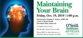 O'Neill Healthcare Bay Village: Maintaining Your Brain