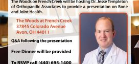 The Importance of Joint and Bone Health Presentation at the Woods on French Creek