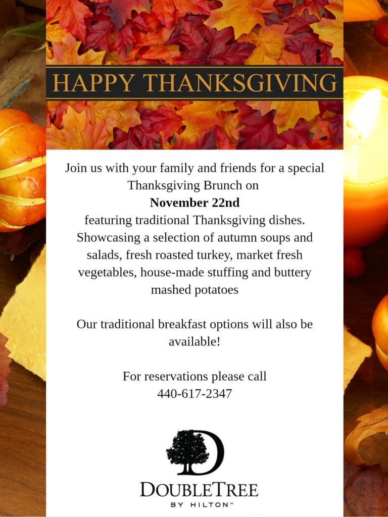 Thanksgiving Brunch at Double Tree by Hilton in Westlake