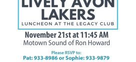 Lively Avon Lakers' Luncheon – November 21