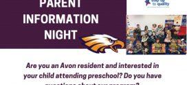 Avon Soaring Little Eagles Preschool Parent Information Night
