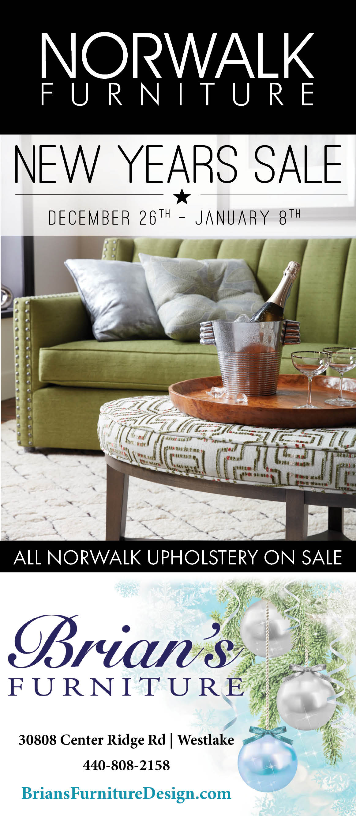 December 26 january 8 all norwalk upholstery on sale see their ad below