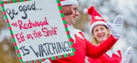 Redwood Elf on the Shelf Greets Students at Redwood Elementary School