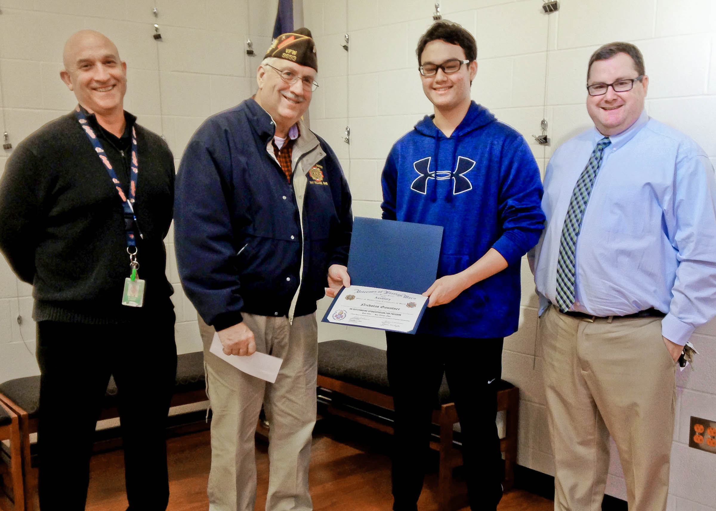 Whs Junior Places In Local Voice Of Democracy Essay Contest  The  Whs Junior Places In Local Voice Of Democracy Essay Contest Research Essay Thesis also Algebra Helper  Library Essay In English