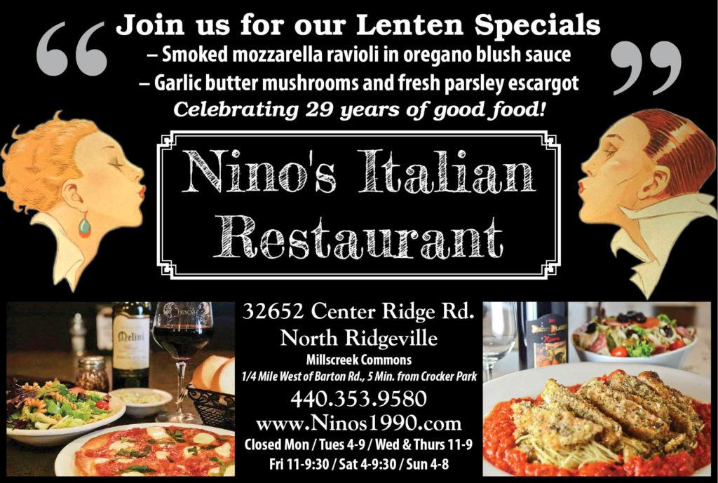 Nino S Italian Restaurant Lenten Specials The Villager