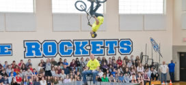 BMX Stunt Bikers Thrill at Bay Middle School
