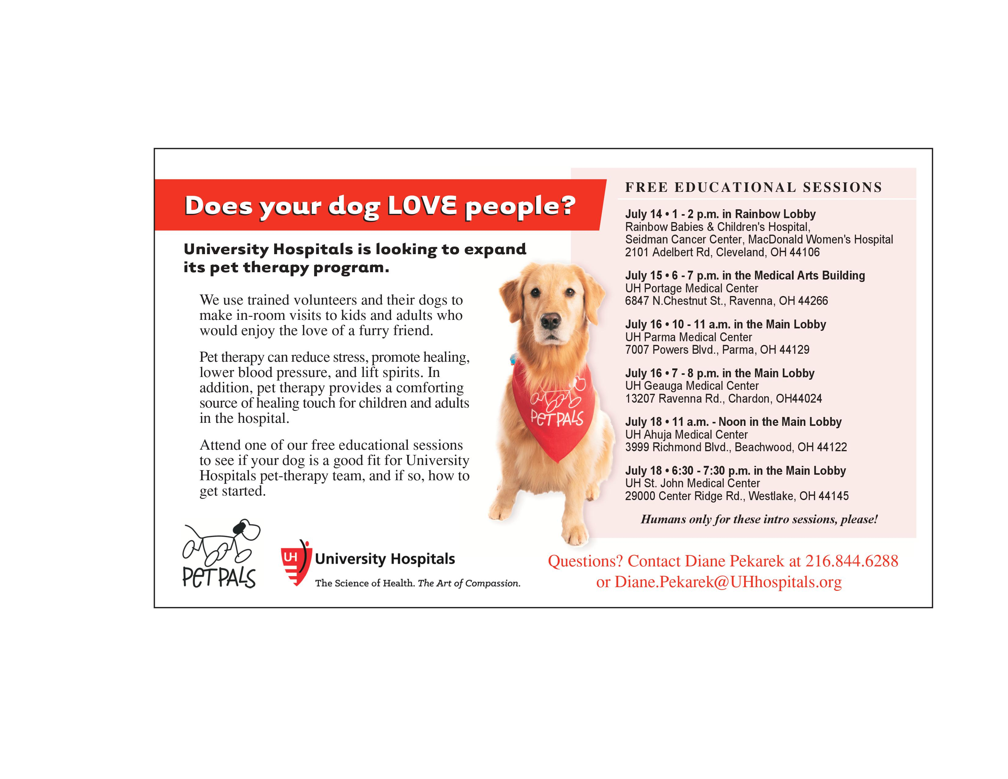 Does Your Dog Love People? UH St  John Wants You! - The