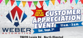 Weber Automotive: Customer Appreciation Event, Sept. 7
