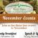 Avon Place Free November Events