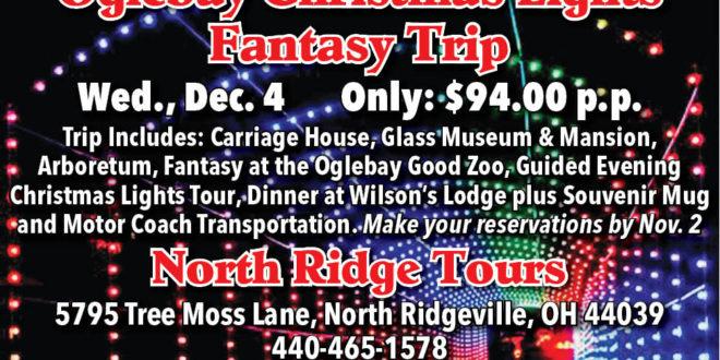 Where Are The Oglebay Christmas Lights 2020 North Ridge Tours: Oglebay Christmas Lights Fantasy Trip   The