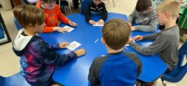 Redwood Elementary Decorates Cards for The Village Project