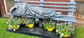 Homeless Jesus on Display at The Edna House for Women