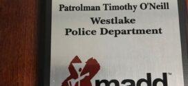 Congrats Westlake Ptl. Tim O'Neill
