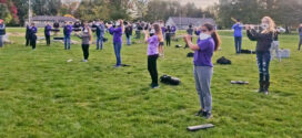 Avon High School Mighty Eagle Marching Band Performs for Nursing Home Residents