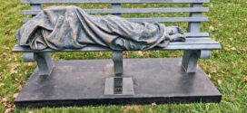 Community West Foundation: Homeless Jesus Now Displayed at Bay's St. Barnabas