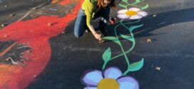 Art Students Paint Games on Elementary School Playground