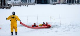 Lakewood Fire Ice/Cold Water Rescue Training